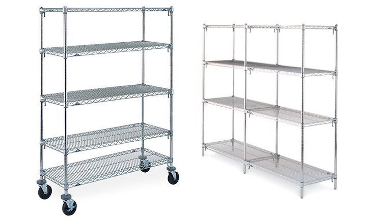 Chrome Shelving Units | Advanced Companies