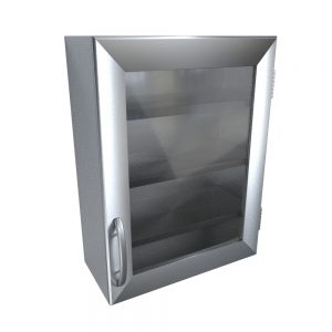 stainless-wall-cabinet-glass-door-blanket-warmer